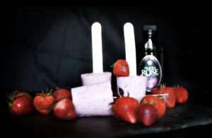 テキーラローズ飲み方苺アイス